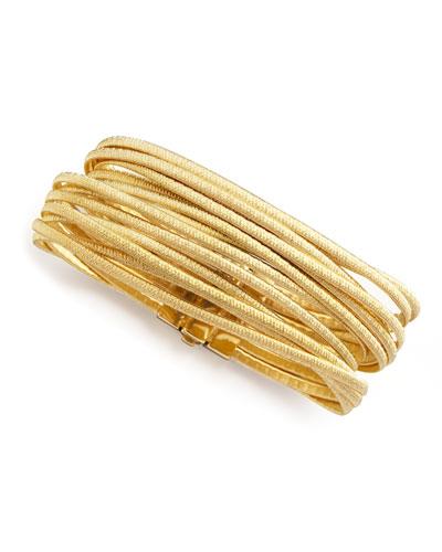 Cairo 18k Thirteen-Strand Bracelet, Size 7