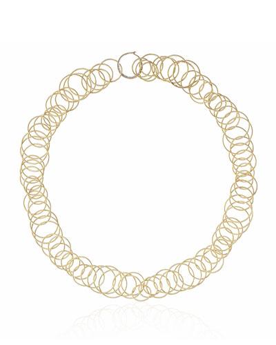 18k Yellow Gold & Black Onyx Short Hawaii Necklace