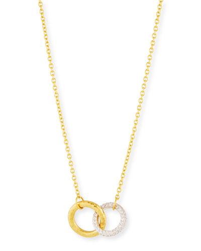 Hoopla Interlocking Pendant Necklace w/ Diamonds