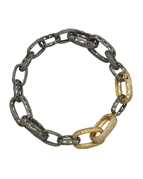Marco Dal Maso Men's Warrior Two-Tone Bracelet w/
