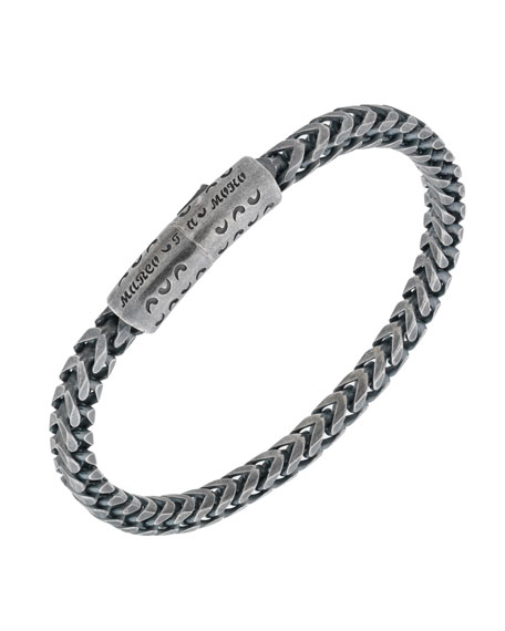 Men's Lash Silver Push-Lock Chain Bracelet