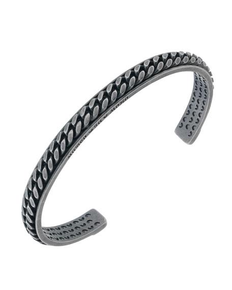 Marco Dal Maso Mens Oxidized Silver Kick Cuff Bracelet Hqf6VD6jpt