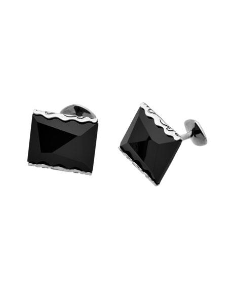 Ara Square Cufflinks w/ Onyx