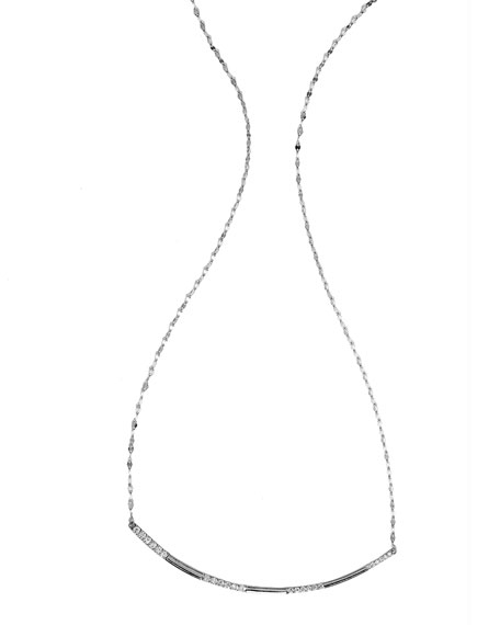 Expose Diamond Pendant Necklace in 14k White Gold