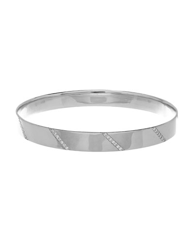 Vanity Expose Diamond Bangle Bracelet, 14k White Gold