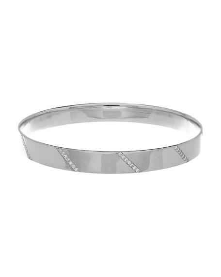 Vanity Expose Diamond Bangle Bracelet, 14k White Gold