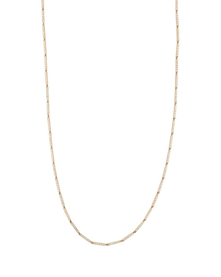 14k Rose Gold Diamond Double Bar Layer Necklace