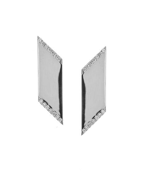 Vanity Expose Diamond Stud Earrings, 14k White Gold