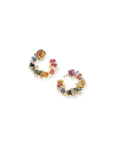 18k Sideways Spiral Earrings