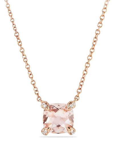 Châtelaine 18k Rose Gold Necklace w/ Morganite, 18