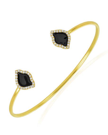 Legend Amrapali 18k Gold Nalika Lotus Cuff Bracelet