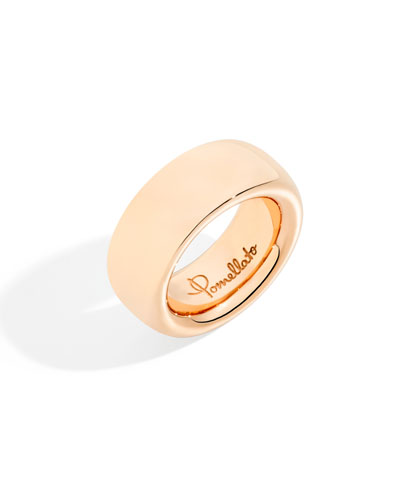 18k Rose Gold ICONICA Large Band Ring, Size 7