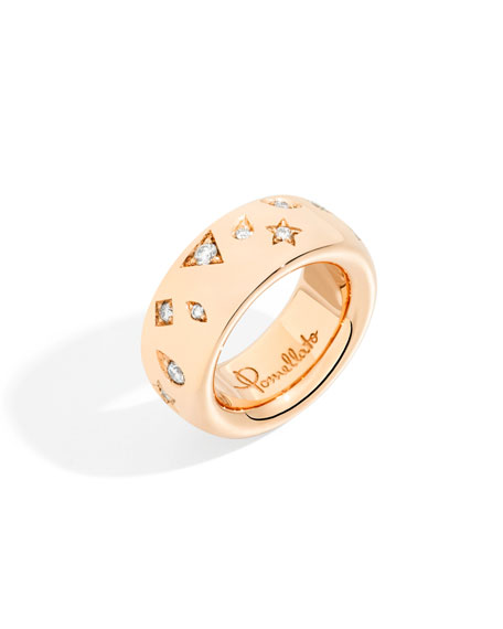18k Rose Gold ICONICA Ring w/ Diamonds, 0.66tcw
