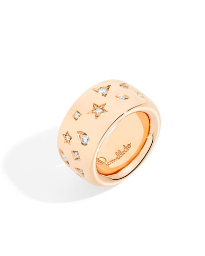 18k Rose Gold ICONICA Ring w/ Diamonds, 0.79 tcw