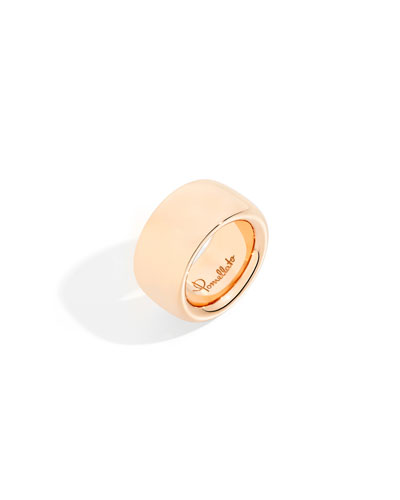 18k Rose Gold ICONICA Maxi Band Ring  Size 7