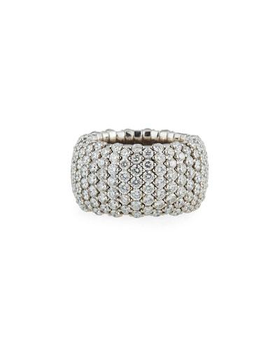 18k White Gold Stretchy Diamond Band Ring