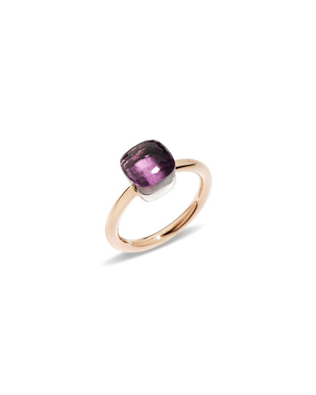 Nudo 18k Rose Gold & Amethyst Mini Ring