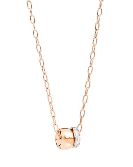 18k Rose Gold ICONICA Pendant Necklace w/ Diamonds