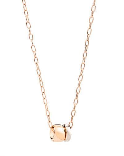18k Two-Tone Gold ICONICA Pendant Necklace