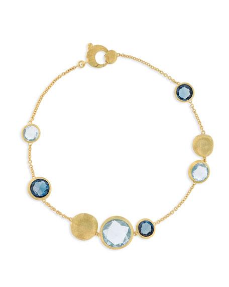 18k Gold Jaipur Unico Blue Topaz Station Bracelet