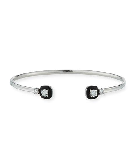 Nikos Koulis 18k Oui Double Diamond & Black Enamel Bracelet fmHrr
