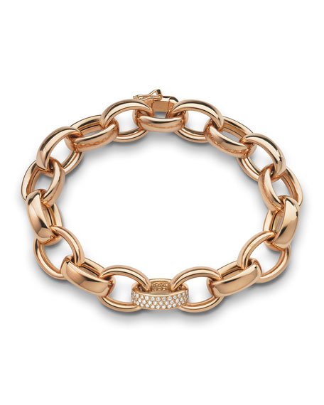18k Rose Gold Marilyn Link Bracelet