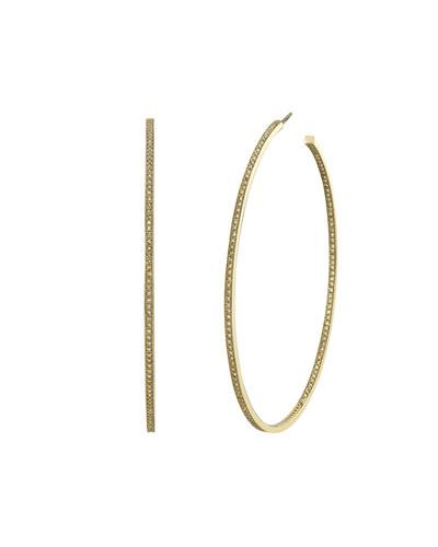 14k Gold Inside-Out Diamond Hoop Earrings