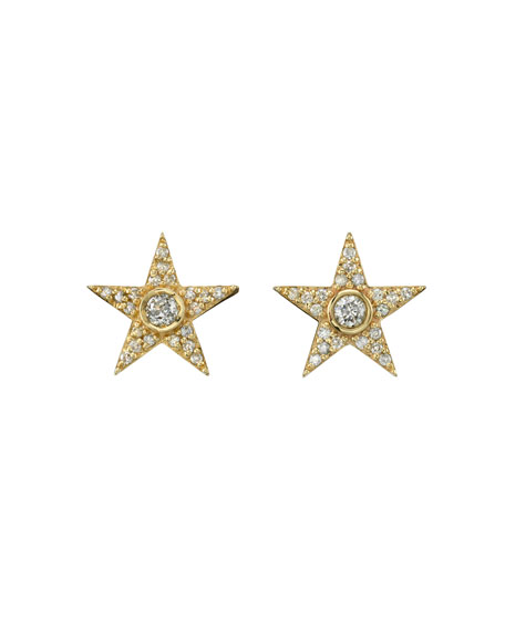 shopbop collection vp v ef star htm stud diamond gold open earrings