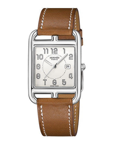 Cape Cod  Stainless Steel & Leather Strap