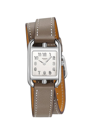 Hermès Cape Cod, Stainless Steel & Leather Strap