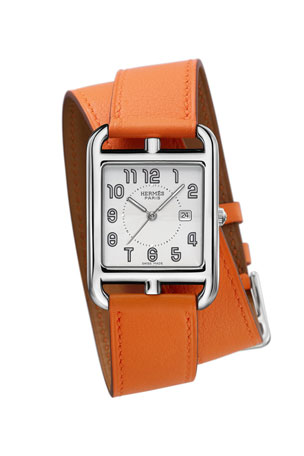 Hermès Cape Cod Watch, Stainless Steel & Leather Strap
