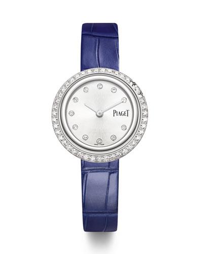Possession 18k White Gold & Diamond Alligator Watch