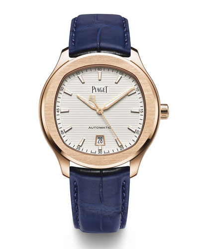 Polo S 42mm Watch w/ Alligator Strap  18k Rose Gold