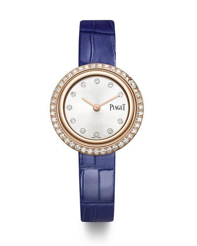 Possession 18k Rose Gold & Diamond Alligator Watch