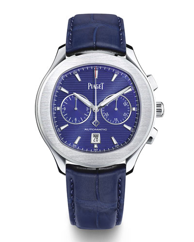 Polo S 42mm Chronograph Watch w/ Alligator Strap