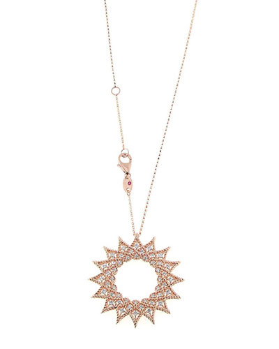 18k Rose Gold Roman Barocco Diamond Necklace