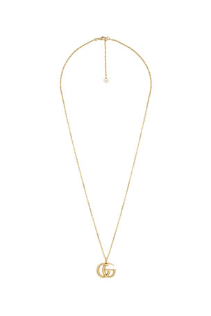 Gucci 18k Gold GG Running Necklace, 24""