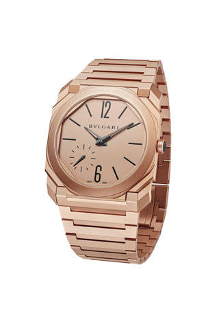 BVLGARI Men's Octo Finissimo 40mm Bracelet Watch, 18k Rose Gold