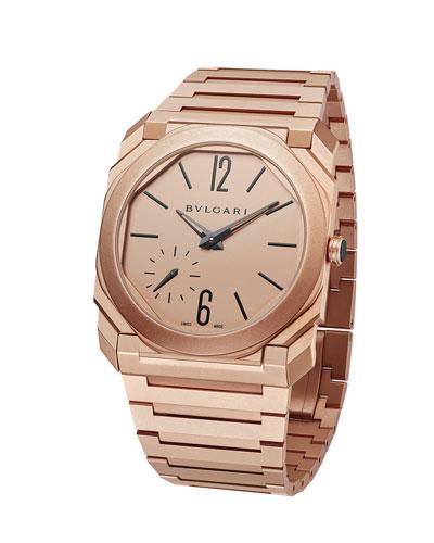 Men's Octo Finissimo 40mm Bracelet Watch, 18k Rose Gold