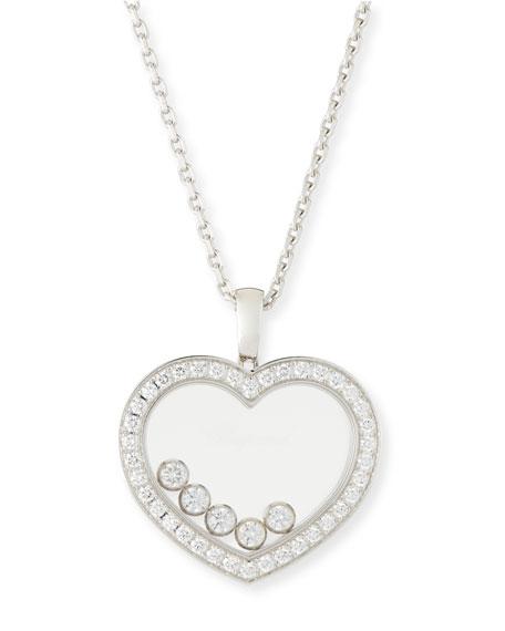 Chopard Happy Diamonds Heart Pendant Necklace in 18K White Gold