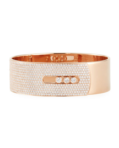 Manchette Move Noa Cuff Bracelet w/ Diamonds & 18K Rose Gold