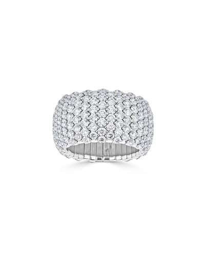 18k White Gold Diamond Stretch Ring