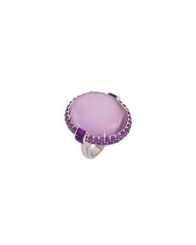 18k White Gold Amethyst Ring