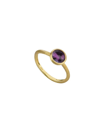 18k Gold Jaipur Stack Ring in Amethyst
