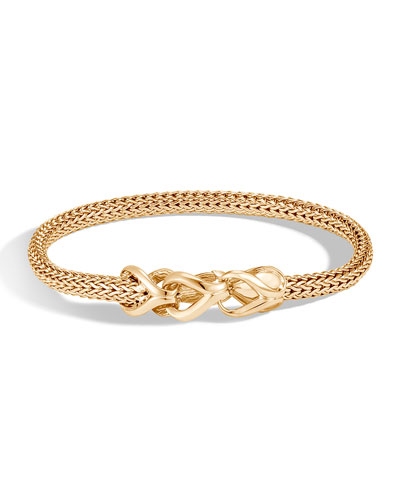 Classic Chain 18k Gold Extra-Small Bracelet, Size M
