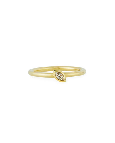 18k Gold Marquise-Cut Diamond Stack Ring