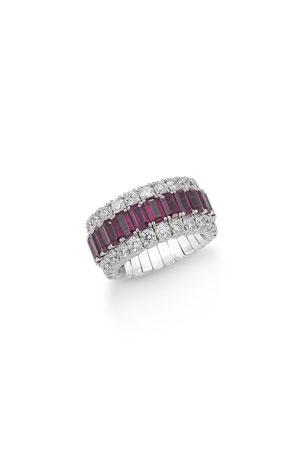Picchiotti Xpandable Sapphire & Diamond Ring
