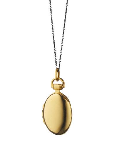18k Gold Petite Anna Locket Necklace