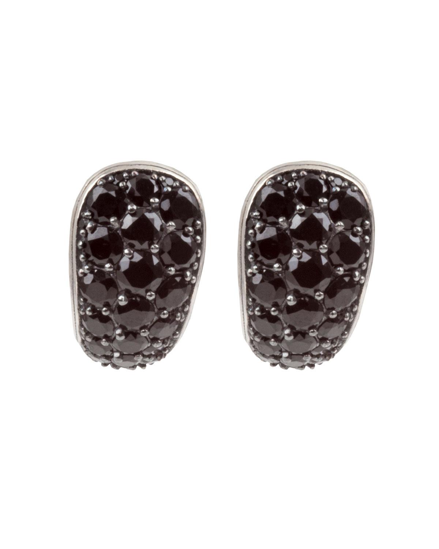 Konstantino Black Spinel J Hoop Earrings Neiman Marcus
