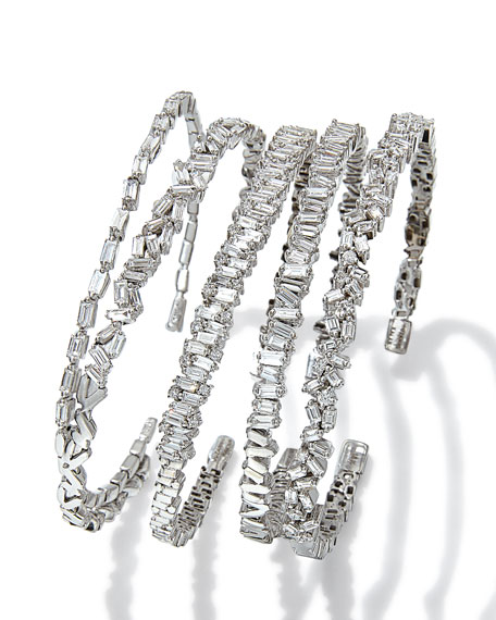 KALAN by Suzanne Kalan 18k White Gold Flexible Diamond Bangle